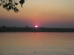 Africa 2009- Sunset on the Zambezi River